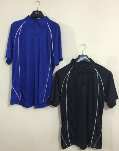 Mens Polo Shirt Wickable Training Running Gym Sports XS XXL