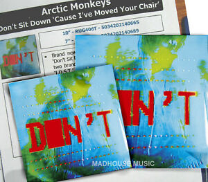 ARCTIC-MONKEYS-10-034-Don-039-t-Sit-Down-039-Cause-I-039-ve-Moved-Your-Chair-3-Trk-Sht-UNPL
