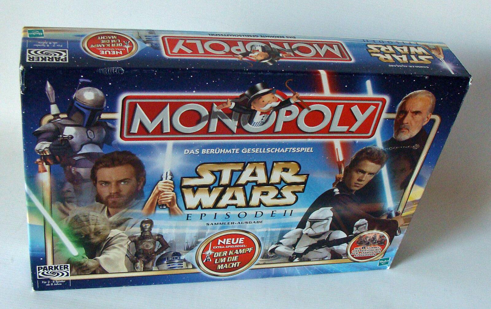 Monopoly Star Wars - Episode II Für 2-8 Spieler Hasbro ohne Folie 8+ - Neu
