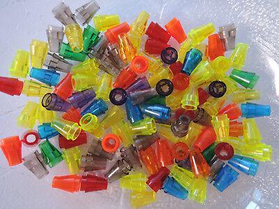 Lego 20 x Cone Kegel 4589b 1x1 rund neu dunkelgrau