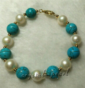turquoise-7-5-8-034-AAA-SOUTH-SEA-NATURAL-White-PEARL-BRACELET-14K-GOLD-CLASP