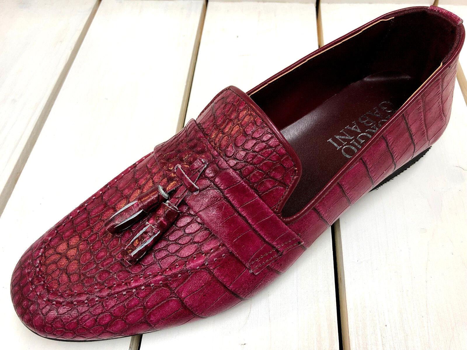 Giorgio GABANI Pantoufles Bordeaux Mocassin Mocassins veau veau Mocassins cuir Chaussures hommes 39 b201c1