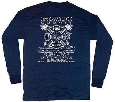 Maui Fire Department Hawaii T-shirt  L  Long Sleeves