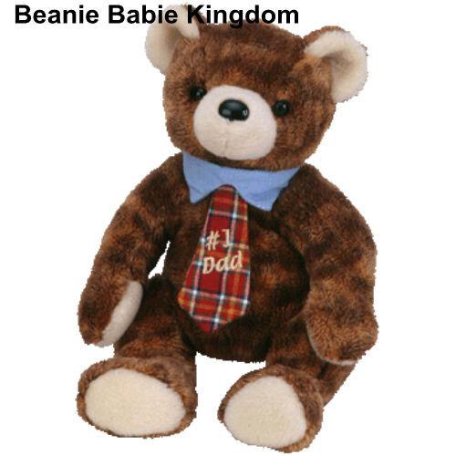 TY BEANIE BABIE * PAPPA 2004 * THE FATHERS DAY  #1 TARTAN TIE TEDDY BEAR