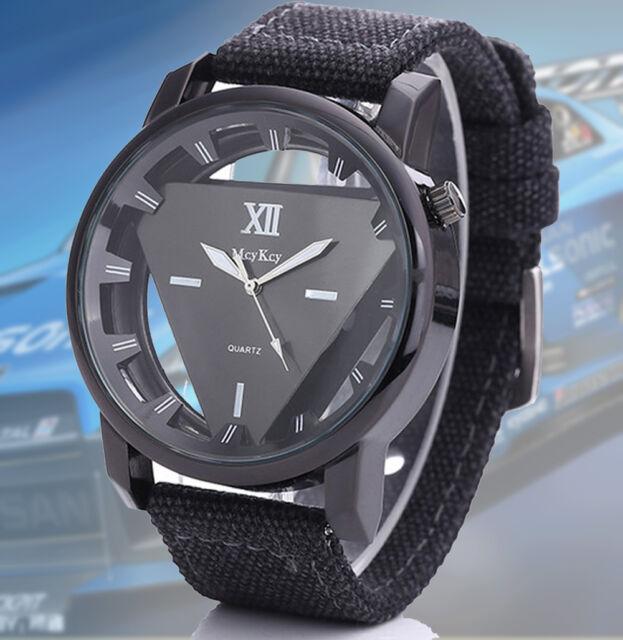 Mens Military Watch Army Watches Triangle Dial Luxury Quartz Sport Wristwatches