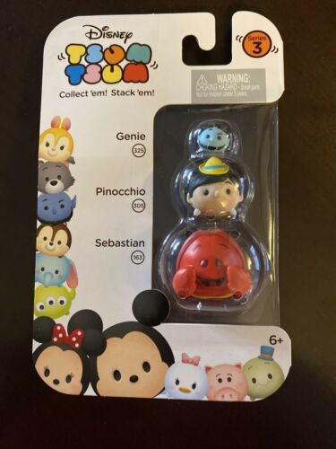 Pinocchio /& Genie New Sealed! Disney Tsum Tsum Series 3: Sebastian