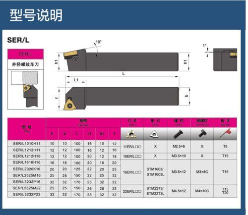 SEL 25 25 K22 25x125mm SEL2525K22 Threading Turning Tool Holder FOR 22EL//NR