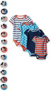Mickey Mouse Baby Boys Grow with Me Bodysuits & 12 Monthly ...