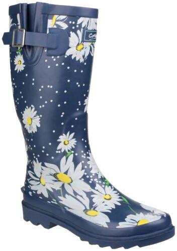 Cotswold Womens Burghley Waterproof Pull On Wellington Boot Daisy Size UK 8 EU