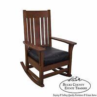 Antique Mission Oak Rocker Rocking Chair (posible Stickley)