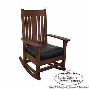 Antique oak rocking chair rocking chairs - Antique Mission Oak Rocker Rocking Chair Posible Stickley