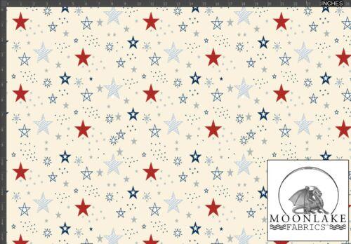EXCLUSIVA * Estrellas en blanco o de tela de fondo crema 100/% Cotton