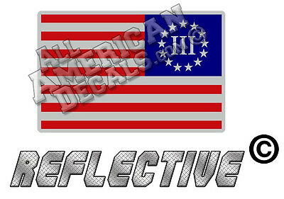 State of Florida American Flag Window Reflective Decal Sticker