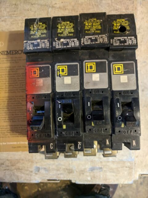 SQUARE D SINGLE POLE I-LINE BREAKERS FY14020A  20 AMP 277 VOLT