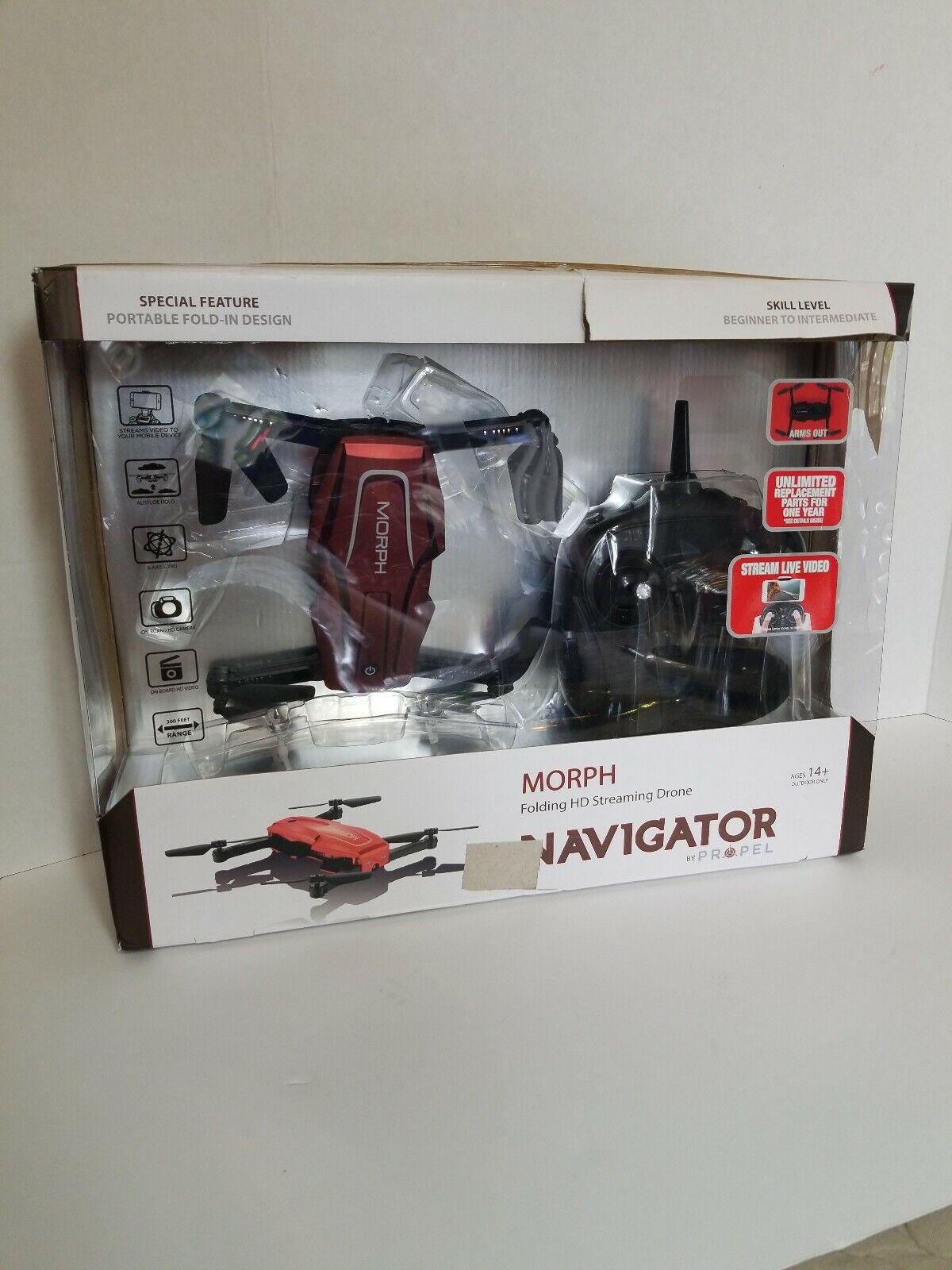 Propel Navigator Morph Plegable HD streaming Drone S Rojo ventas por menor