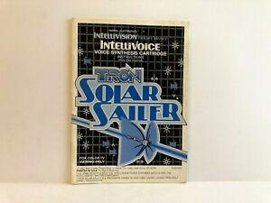 Tron-Solar-Sailer-Intellivision-MANUAL-ONLY-Original