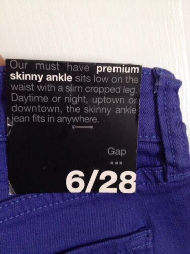 Skinny Gap Premium Denim 28 Nwt 6 Ankel Jeans Farvede ZPAWHw