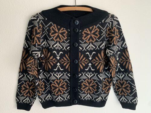 S/M Vintage Catalina Wool Ski Sweater Jacket Cardi