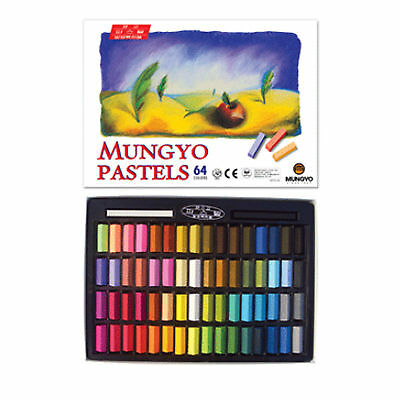 Mungyo Non Toxic Soft Drawing Pastels Set of 64 Colors Square Chalk For aritst