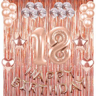 18 9*1.2 F/ü/ße Geburtstag Stoff Photo Booth Hintergrund f/ür M/ädchen 18 Geburtstag Deko Garten Tabelle Mauer Geburtstag Dekoration Rose Gold HOWAF Extra Lange Banner f/ür 18
