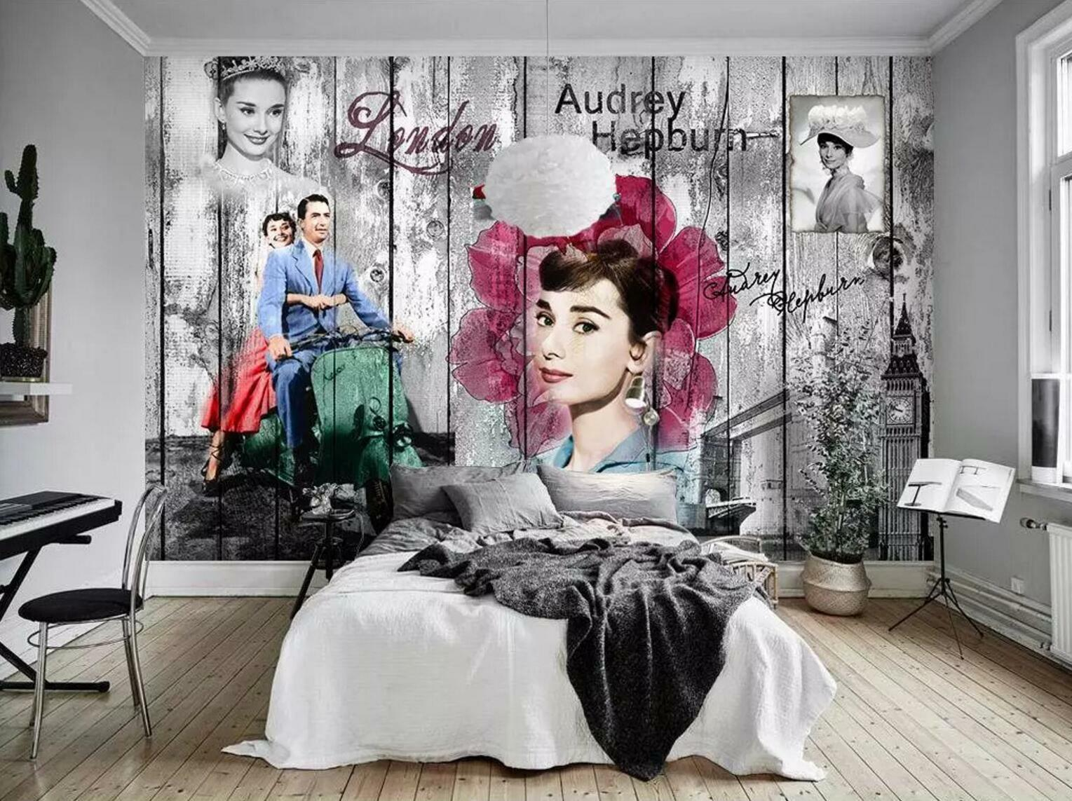 3D Movie Actress 55 Wall Paper Exclusive MXY Wallpaper Mural Decal Indoor wall