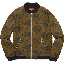 Supreme Quilted Lace Bomber Jacket Dark Gold - Size Large - Brand New SHIPS FREE