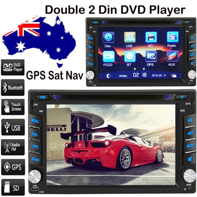 "GPS Navigation 6.2"" 2 DIN Car Stereo CD DVD Player Bluetooth Radio iPod MP3 TV"