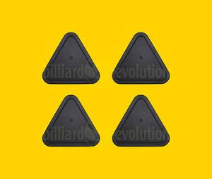 """Set of 4 Air Hockey Pucks- Black Triangle Pucks 2-1/2"""" - 63mm Table Hockey Pucks"""