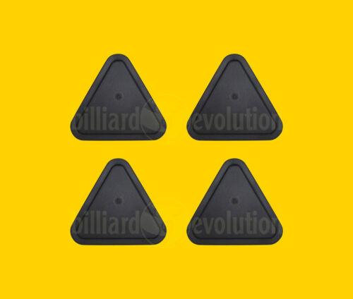 Set of 4 Air Hockey Pucks- Black Triangle Pucks 2-1/2 - 63mm Table Hockey Pucks