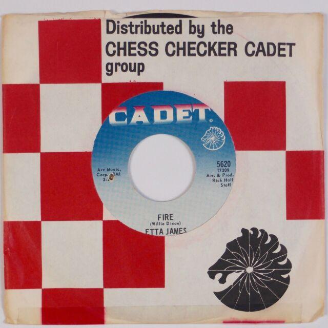 ETTA JAMES: Fire US Cadet Soul Funk VG++ 45 Rare HEAR