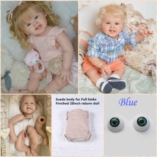 "Unpainted Reborn Baby Dolls Kit Mould Finished Size 28/"" Reborn Toddler Blue Eyes"
