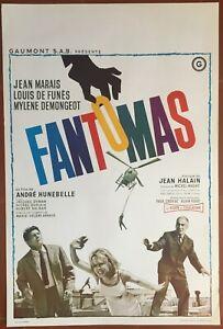 Plakat Belgischer Fantomas Jean Marais Louis De Funès Mylène Demongeot