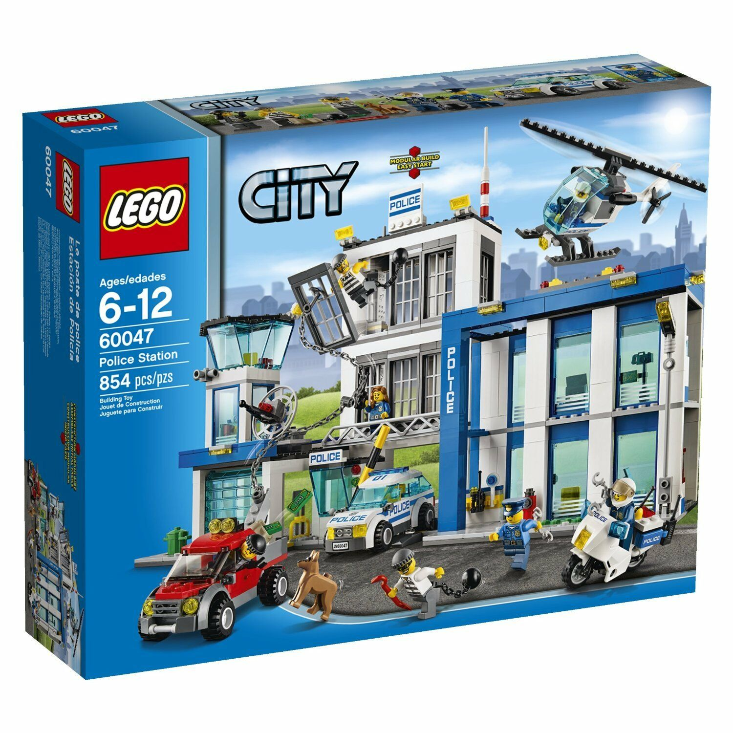 LEGO City Police Station 60047 Plus Bonus LEGO City Police Accessory 853570