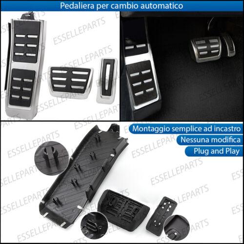COPRIPEDALI COPRI PEDALI PEDALIERA ALLUMINIO CAMBIO AUTOMATICO AUDI A4 B8 AVANT