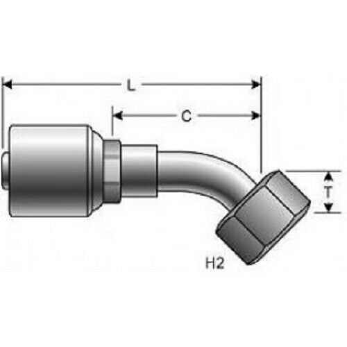 G25235-2020 Hydraulic Hose Fitting Gates 20G-20FFORX45S