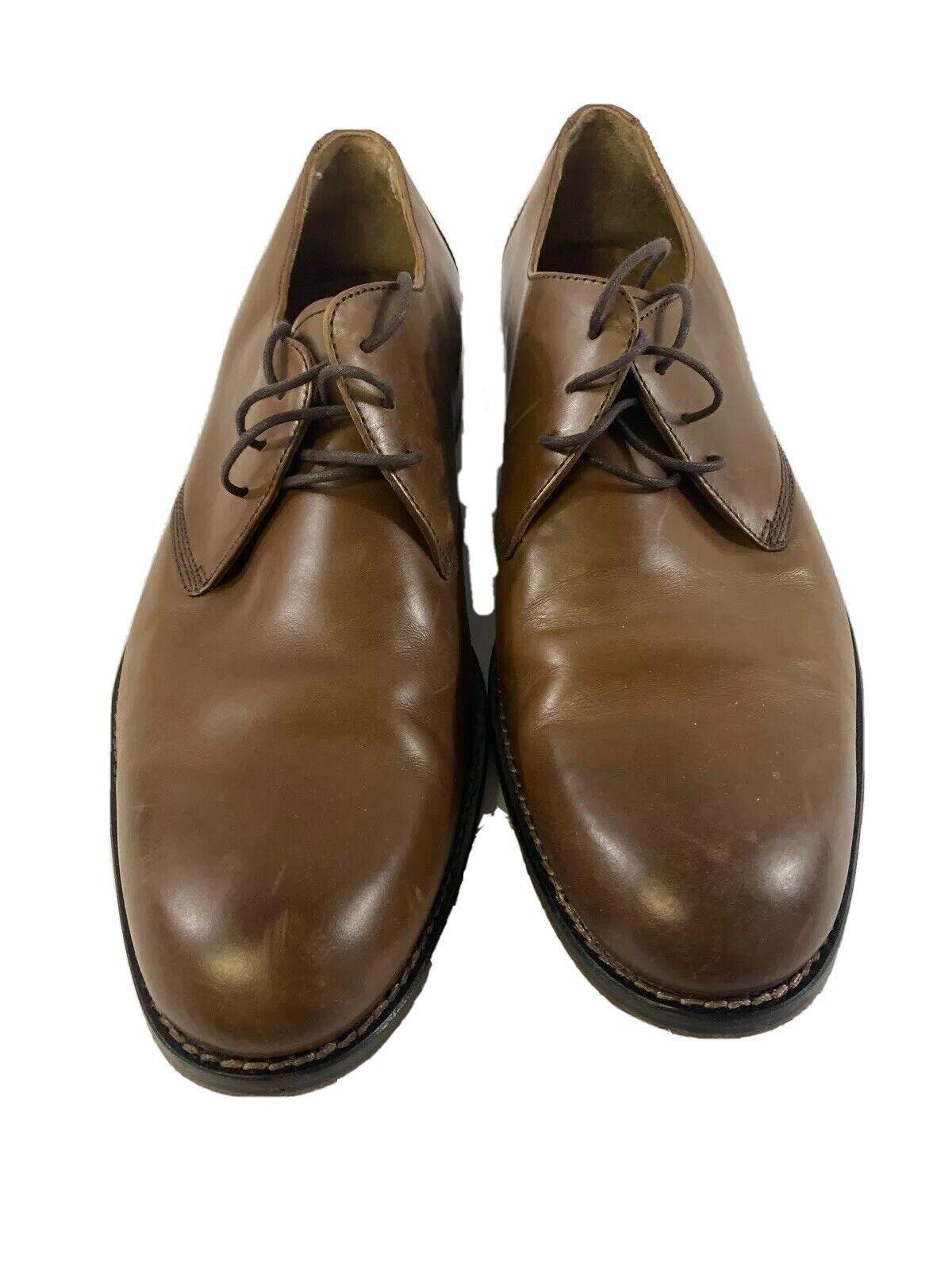 Johnston & Murphy Sheepskin Leather Shoes 9.5M Brown Mens 15-1790