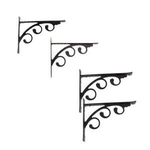 Set-4-European-Style-L-Shaped-Wall-Mounted-Shelf-Bracket-Hanging-Holder