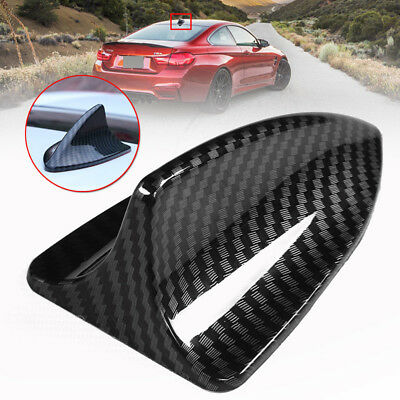 Universal Carbon Fiber Look Style Shark Fin Antenna Radio FM//AM Decorate Aerial