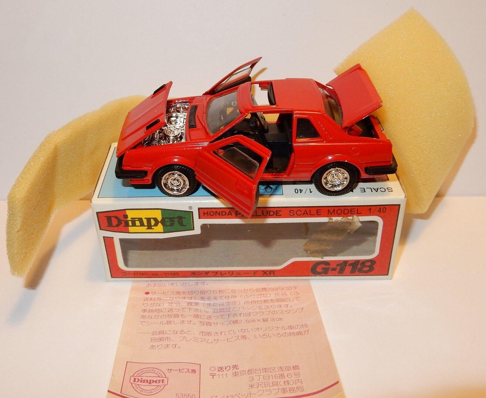 RARE DIAPET DIAPET DIAPET YONEZAWA TOYS HONDA PRELUDE REF 1489  G118 MADE IN JAPAN 1990 1d0b84