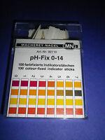 100 St. Universal Indikator Stäbe pH 0 - 14 Indikatorpapier W 8250200