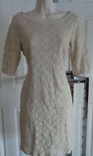 Banana Republic beige lace cocktail sheath dress cotton 6