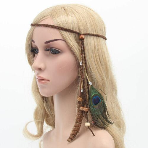 Hippie Indian Feder Stirnband Haarband Kopfschmuck Bonfire Carnival best E9I6