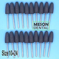 20Pcs Dental Lab gray Silicone Rubber Rotary Polishing Burs 2.35mm 10*24 IT