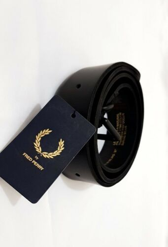 BT6475 Fred Perry Men/'s Leather belt Black Brown