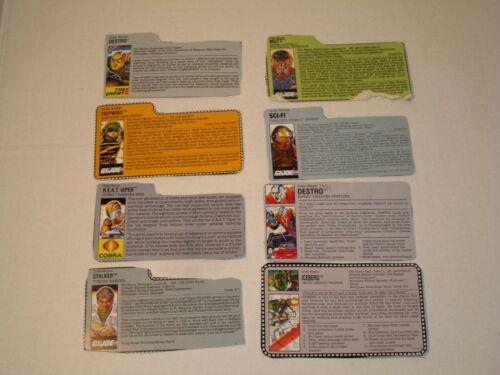 Gi Joe File Card Pick /& Choose each additional file card free shipping