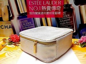 034-20-OFF-034-Estee-Lauder-Cosmetic-Makeup-Bag-Gold-Point-LARGE-Size-034-P-FREE-034