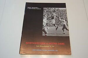1970-Notre-Dame-Northwestern-Football-Program