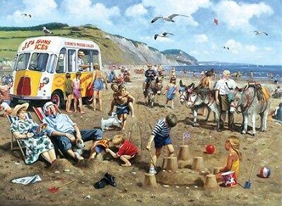 1960s Summer Holiday Ice Cream Childhood Seaside Greeting Birthday Card
