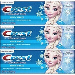 New-3-Pack-4-2-Oz-KIDS-CREST-Minty-Breeze-FROZEN-Toothpaste-Exp-July-2020