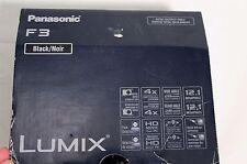 Panasonic LUMIX DMC-F3 12 MP Digital Camera - Black + Accessories FREE SHIPPING